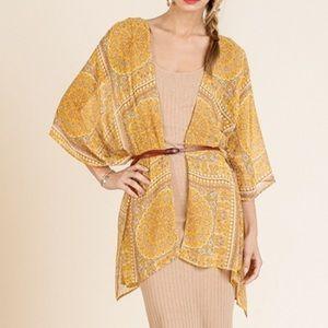 Umgee Honey Paisley Pattern Kimono